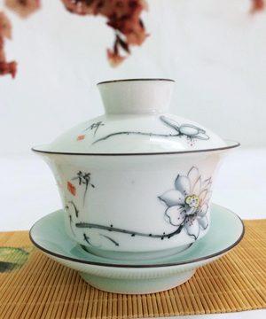 bát trà sứ sen