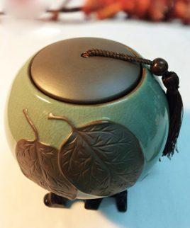 hũ đựng trà sứ