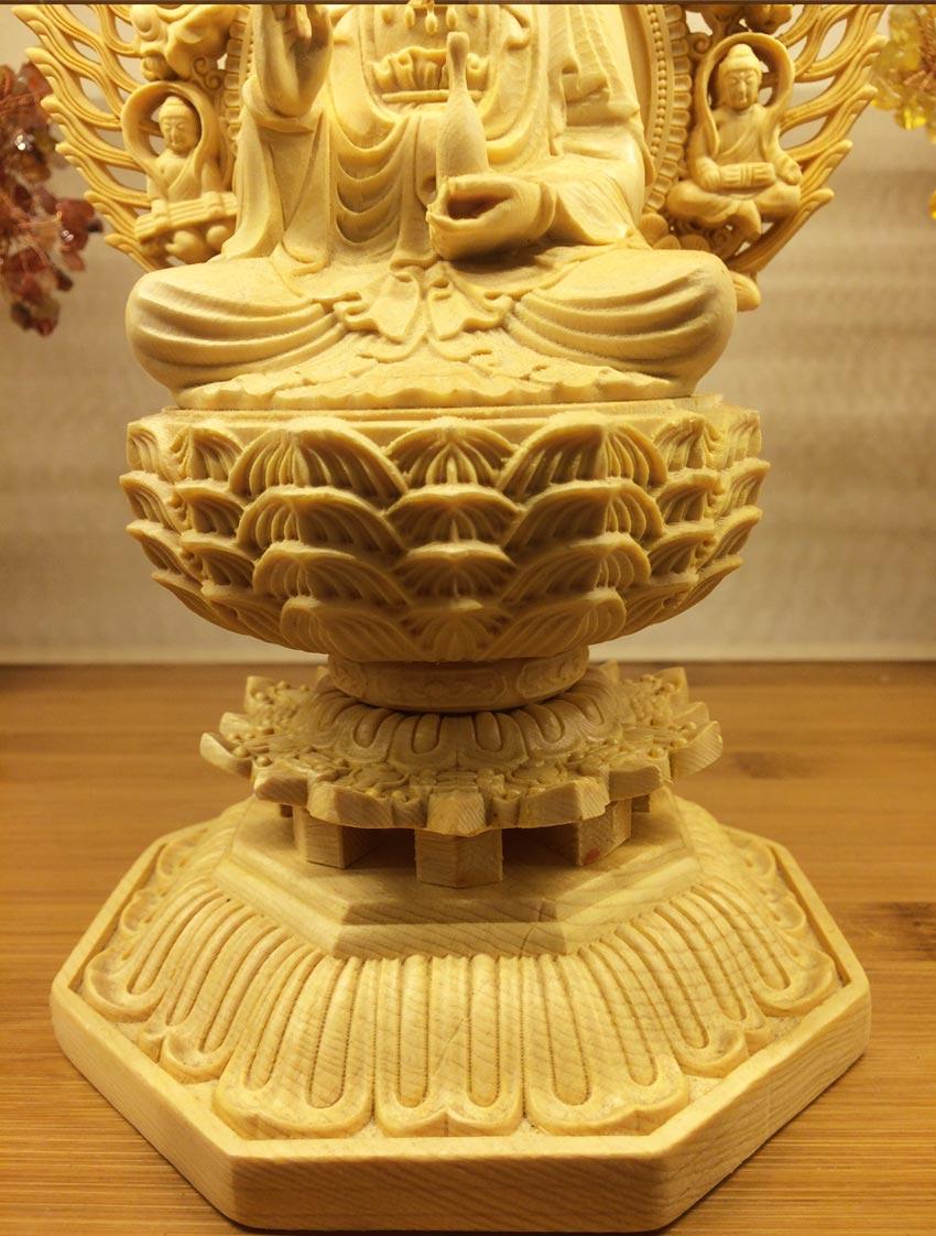 tượng gỗ phật quan thế âm