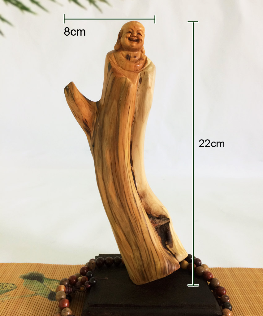 Tượng phật Di Lặc gỗ nhai bách TGPDL11