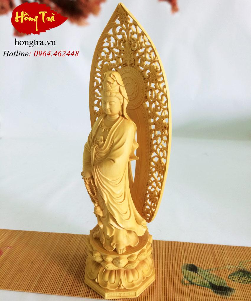 tượng gỗ hoàng dương TPQA03