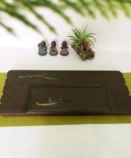bàn trà gỗ nguyên khối