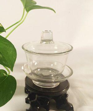 bát trà thủy tinh