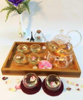 bộ pha trà thủy tinh
