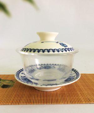 bát trà sứ thủy tinh