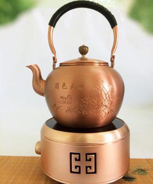 bộ bếp đun nước bằng đồng