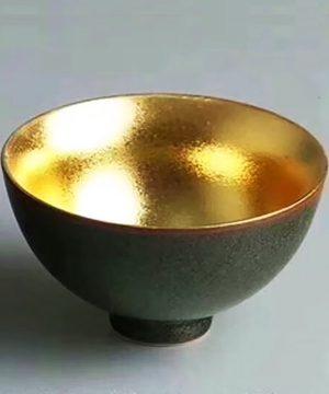 chén sứ dát vàng
