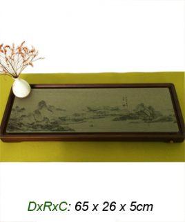 bàn trà mặt đá sơn thủy