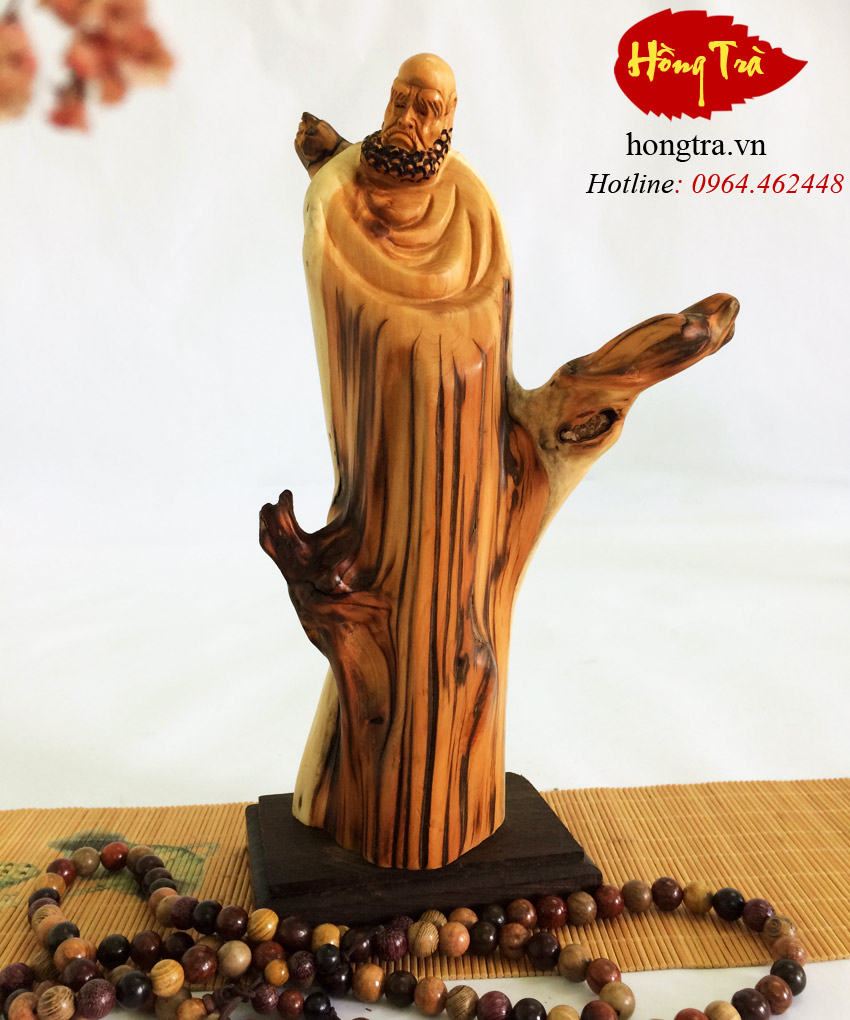 Tượng đạt ma gỗ nhai bách TGDM15
