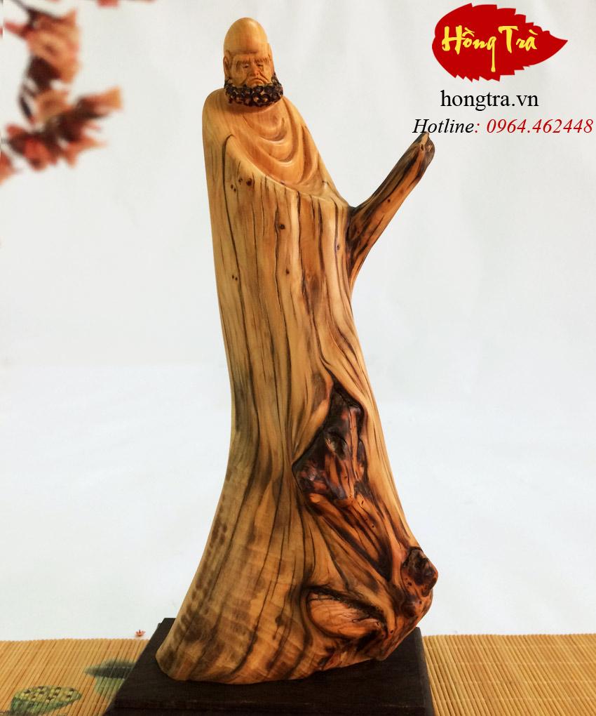 Tượng gỗ đạt ma TGDM11
