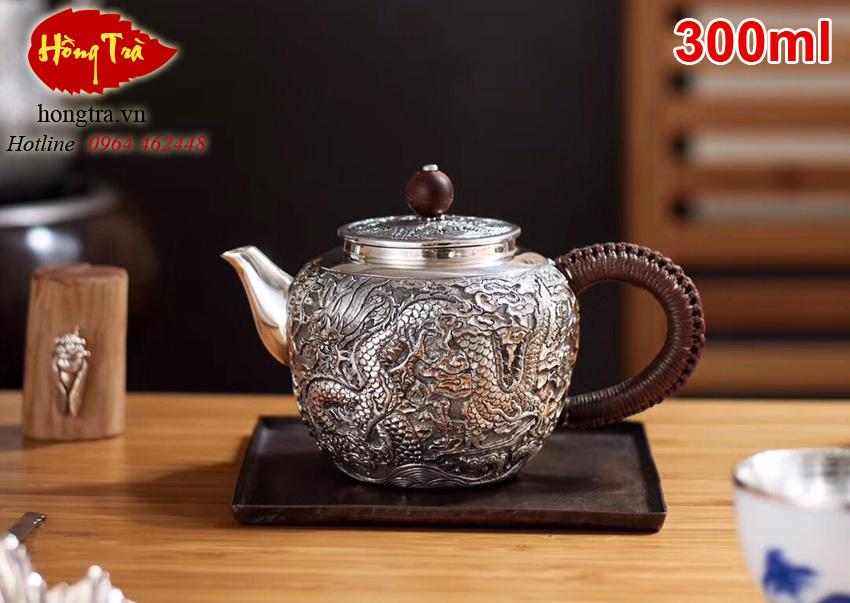 Ấm bạc rồng pha trà ABPT07
