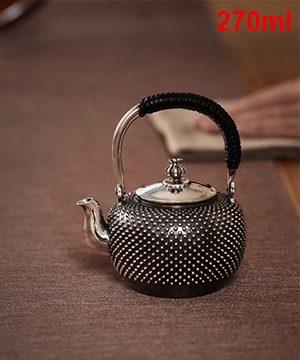 Ấm bạc pha trà -V12-1
