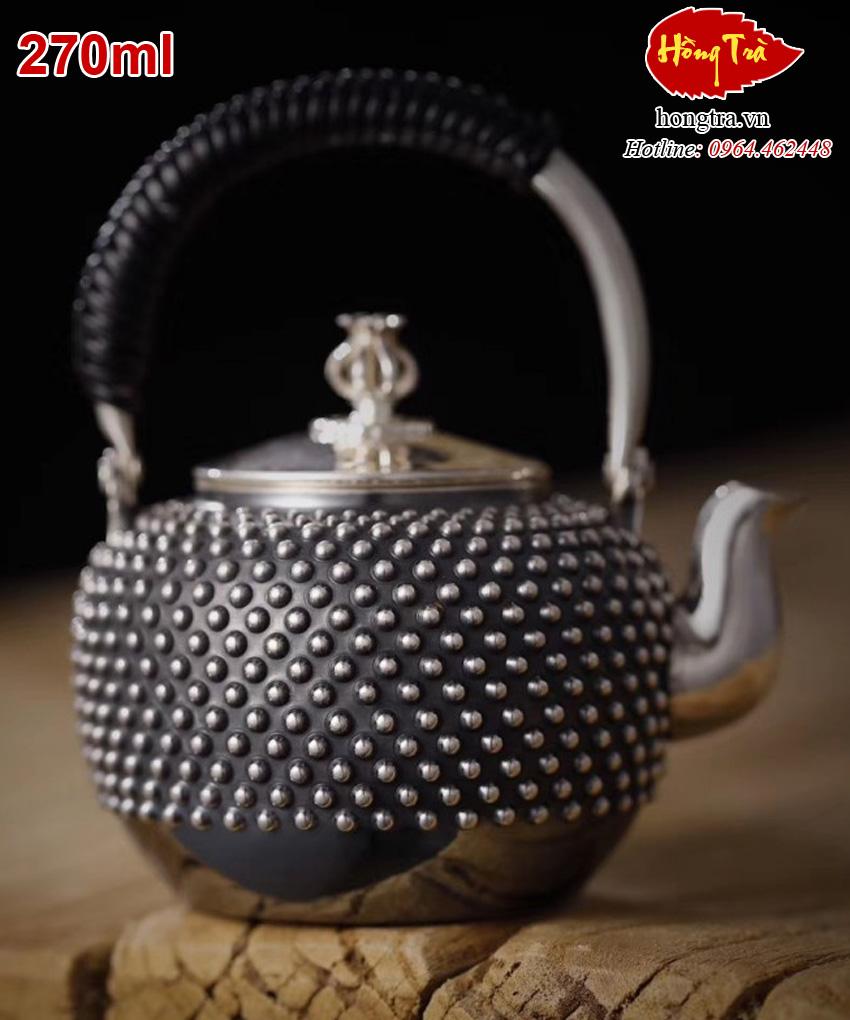Ấm bạc pha trà ABPT12