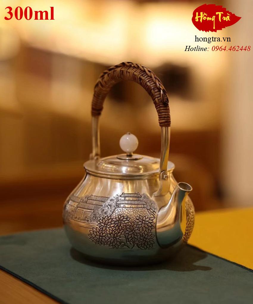 Ấm bạc pha trà ABPT13
